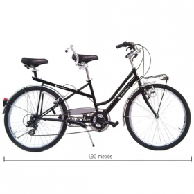 SHORT BICYCLE TANDEM 1,90m