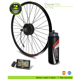 ELECTRIC BIKE KIT EFF ULTRALIGHT 400W HSS 36V10.5AH BOTTLE CAGE  (SANYO 3C) REAR WHEEL OFF ROAD