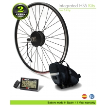ELECTRIC BIKE KIT HIGH TORQUE EFF M15 400W HT 36V 16.0AH SADDLE BAG (PANASONIC) REAR OF CASSETTE