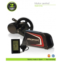 ELECTRIC BIKE KIT CENTRAL MOTOR BBS02 36V 500W. 36V 16.0AH BOTTLECAGE B52 (PANASONIC). OFF ROAD