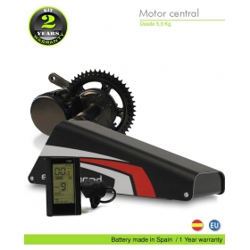ELECTRIC BIKE KIT CENTRAL MOTOR BBS02 36V 500W. 36V 22.4AH BOTTLECAGE  ALUBOX 01AM(PANASONIC). OFF ROAD