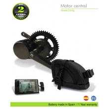 ELECTRIC BIKE KIT CENTRAL MOTOR BBS02 36V 500W. 36V 16.0AH SADDLE BAG (PANASONIC). OFF ROAD
