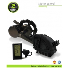 ELECTRIC BIKE KIT CENTRAL MOTOR BBS02 48V 750W. 48V 11.6AH SADDLE BAG (SAMSUNG 3C). OFF ROAD