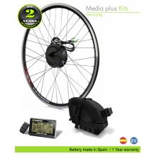 KIT ELÉCTRICO BICICLETA  EFF MEDIA PLUS 250W HIGH TORQUE. BATERÍA BOLSA SILLÍN 40C CELDAS EFFICIENCED. 36V13.0AH CE