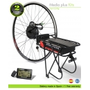ELECTRIC BIKE KIT HIGH TORQUE EFF MIDDLE PLUS 250W HT 36V 20.8AH REAR CARRIER SS06 80C  EFFICIENCE CELLS CE