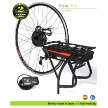 ELECTRIC BIKE KIT HIGH TORQUE EFF BASIC 250W HT 36V 11.0AH REAR CARRIER SSE 006 50C EFFICIENCE CELLS CE
