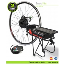 ELECTRIC BIKE KIT HIGH TORQUE EFF BASIC 250W HT 36V 20.8AH REAR CARRIER SS06 80C  EFFICIENCE CELLS CE