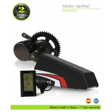 ELECTRIC BIKE KIT CENTRAL MOTOR BBS02 36V 500W. 36V 31.0AH BOTTLECAGE ALUBOX 02BL (LG 3C). OFF ROAD