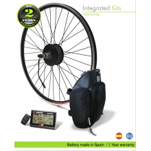 E-BIKE KIT HIGH SPEED EFF M15 600W HSS 52V 17.5 AH SADDLE BAG  (SANYO) REAR OF CASSETTE
