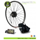ELECTRIC BIKE KIT HIGH SPEED EFF M15 400W HSS 36V 20.4 AH SADDLE BAG  (PANASONIC) REAR OF CASSETTE