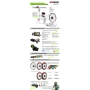 ELECTRIC BIKE KIT HIGH SPEED EFF M15 450W HSS 40V 21.0 AH SADDLE BAG  (SANYO) REAR OF CASSETTE