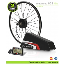 ELECTRIC BIKE KIT HIGH SPEED EFF M15 400W HSS 36V 25.6 AH BOTTLE CAGE ALUBOX 02BL (PANASONIC) REAR OF CASSETTE