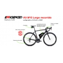 ELECTRIC BIKE KIT HIGH SPEED EFF M15 450W HSS 40V 24.5 AH BOTTLE CAGE ALUBOX 02BL (SANYO) REAR OF CASSETTE