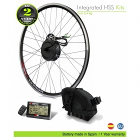 ELECTRIC BIKE KIT HIGH SPEED EFF M15 400W HSS 36V10.5AH  (SANYO) SADDLE BAG FRONT WHEEL. OFF ROAD