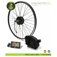ELECTRIC BIKE KIT HIGH SPEED EFF M15 400W HSS 36V 14.0 AH SADDLE BAG  (SANYO) REAR OF CASSETTE