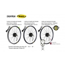 ELECTRIC BIKE KIT HIGH TORQUE EFF M15 400W HT 36V 10.2AH BOTTLECAGE HL50 (LG) REAR OF CASSETTE