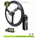 ELECTRIC BIKE KIT HIGH SPEED EFF ULTRALIGHT 400W HSS 36V 10.5AH BOTTLE CAGE  (SANYO 3C) REAR WHEEL