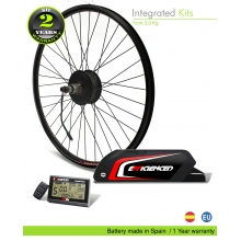 ELECTRIC BIKE KIT HIGH TORQUE EFF M15 400W HT 36V 21.0AH BOTTLECAGE B65 (PANASONIC) REAR OF CASSETTE